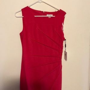Calvin Klein knee length fitted dress